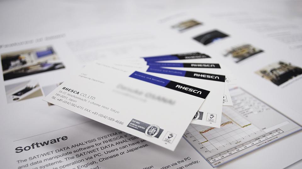 画像:レスカ・会社案内、カタログ、銘板、梱包など