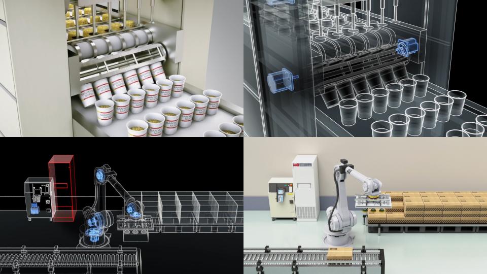 画像:CG動画制作「社会の中の山洋電気 – 食品工場 – 」