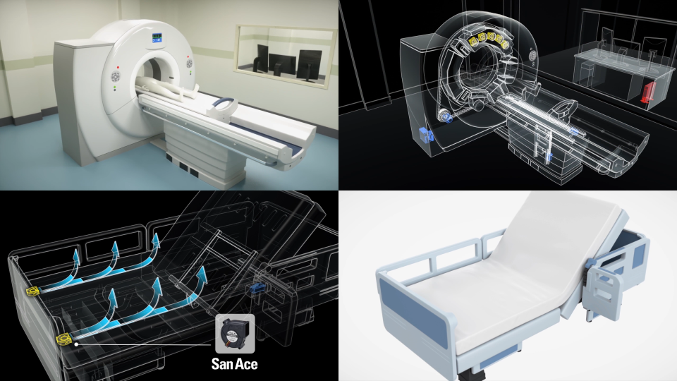 画像:CG動画制作「社会の中の山洋電気 – 病院 – 」/山洋電気