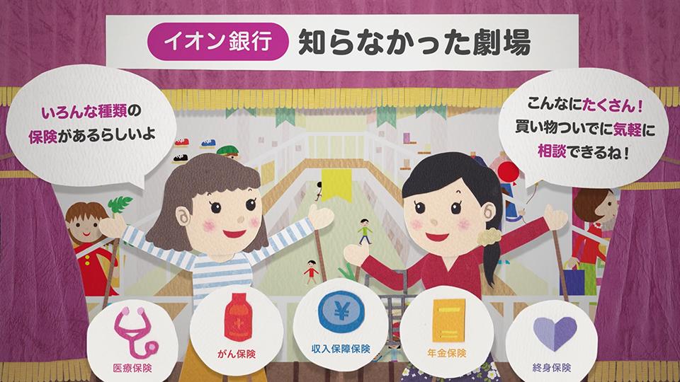 画像:デジタルサイネージ制作「イオン銀行の保険〜知らなかった劇場〜」 / トッパン・フォームズ